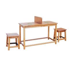 4 Ft Study Table & Stool